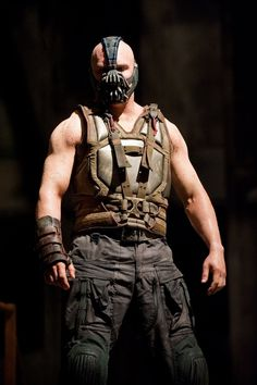 Tom Hardy as Bane, in 'The Dark Knight Rises'.  Maybe not so hot here, but HUGE.
