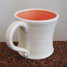 Coral Pottery Mug. Beautiful!