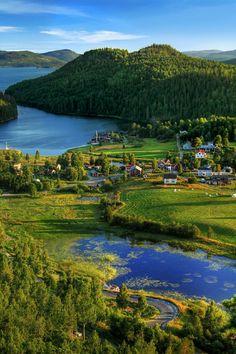 Häggvik, Sweden. A beautiful village in the High Coast region.