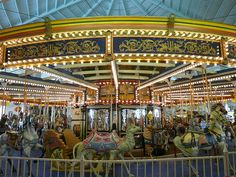 The Antique Carousel at Casino Pier, Seaside Heights, NJ boasts one of only two surviving American made classic carousels in the state of New Jersey.