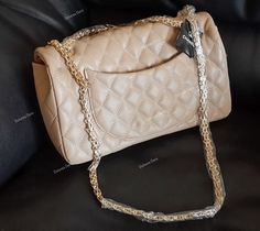 CC 2.55 Reissue Flap doble Bag  (beige)