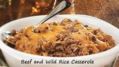 100 Ways To Prepare Hamburger | Hamburger Recipes : Beef and Wild Rice Casserole