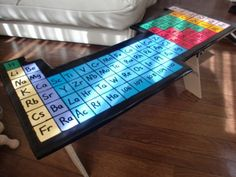 Periodic table table....the biochem major in me loves this haha