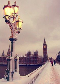 London in snow