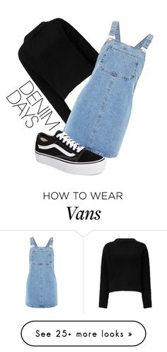 """Yassss"" by miaudeleine on Polyvore featuring Miss Selfridge, Topshop, Vans and denimskirts"