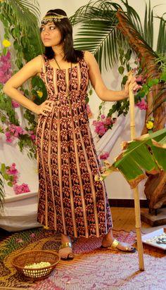 Floral Kalamkari cotton maxi dress To order, visit www.facebook.com/tadkabymadhu mail at tadkabymadhu@gmail.com