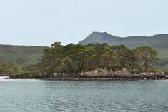 Isle Maree is a tiny wooded island on Loch Maree in Wester Ross.   Loch Maree is the largest loch in the North West of Scotland and lies in a glacial trough. There are 66 islands on Loch Maree.