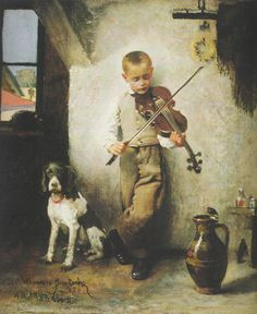 :::: PINTEREST.COM christiancross :::: Violinist by Wandalin Strzalecki