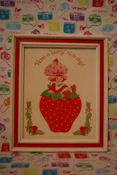 Vintage Strawberry Shortcake Framed Print by mandtsimplyvintage, $10.00