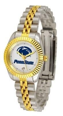 Penn State Nittany Lions NCAA Womens 23Kt Gold Watch by SunTime. $134.95. 2-Tone Stainless Steel Band. Women. Officially Licensed Penn State Nittany Lions Women's Two-Tone Executive Watch. 23kt Gold-Plated Bezel. Links Make Watch Adjustable. The ultimate fans statement our Ladies Executive timepiece offers women a classic business-appropriate look. Features a 23kt gold-plated bezel stainless steel case and date function. Secures to your wrist with a two-tone solid stainless ...