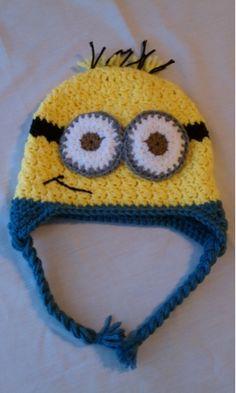 Minion crochet hat, Despicable Me