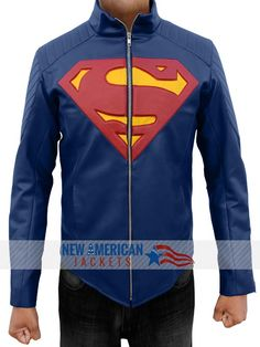 "Black Friday Offer! Blue Smallville Superman Man of steel Jacket is now on Sale at #NewAmericanJackets Store with easy Exchange and returns Guarantee. ""Also Available in real Leather""  For More Detail Visit: >   #Blue #Superman #Manofsteel #Jacket #BlackFriday #onSale #BlackFridaySale #Black #GivingTuesday #charity #handmade #holidayssavings #ThanksgivingAds #CheepTweet #gentleman #gentlemanstyle #moda #fashionmiami #Gaming #bikers #costume #boysFashion #shoppingseason"