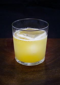 Penicillin - Blended Scotch, Lemon Juice, Honey Syrup, Ginger, Islay Single Malt Scotch.