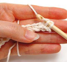 Tunisian crochet - Simple, step 2