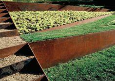 materiales corten para jardines