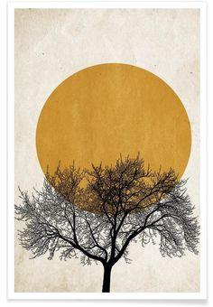 Wintermorgen als Premium Poster door Kubistika | JUNIQE