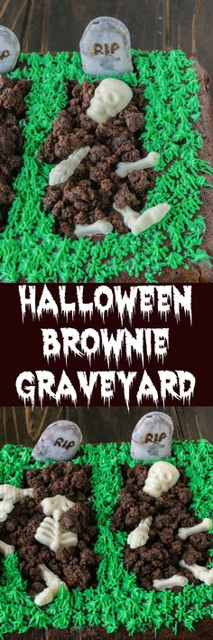 Easier to make than it looks. Graves are hollowed out of a brownie and ...