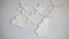 Blogger Emily Quinton shows how to make easy Christmas tree decorations with the kids using clay.
