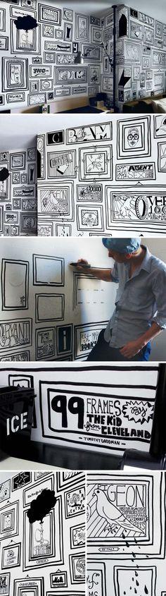 Рисунки на стене для терпеливых / Декор стен / ВТОРАЯ УЛИЦА