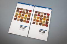 Guide de poche pour la promotion économique du Canton du Jura Graphic Design Print, Graphic Prints, Canton, Guide, Promotion, Editorial, Law School