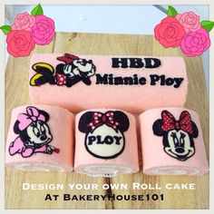 Minnie Mouse Paint Roll, Japanese Deco Roll Cake^_^ รับทำ Roll Cake ตาม Orderค่ะ ที่ ร้านอาหาร Bakeryhouse 101 Sukhumvit101/1