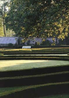 Hubert de Givenchy - another view of the parterre at Le Jonchet Moon Garden, Garden Pool, Dream Garden, Garden Art, Garden Landscaping, Garden Design, Landscaping Ideas, Beautiful Landscapes, Beautiful Gardens