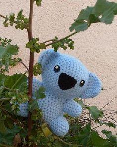 Koala Bear Stuffed Animal Crocheted...Free shipping...made to order...