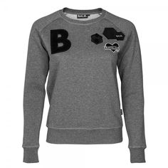 Women Badge Crew Neck Grey - BALR.