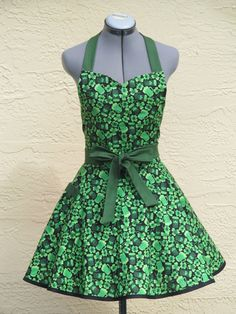 St.Pattys Day Sexy Pin up Apron by AquamarCouture on Etsy