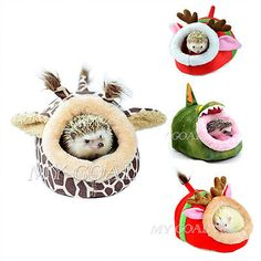 Small Animal Hamster Rat Hedgehog Squirrel House Bed Nest With Pad For Cage Hot
