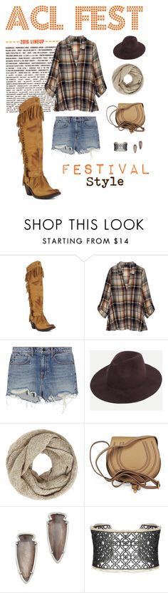 ACL Fest Style by allensboots on Polyvore featuring Bobeau, Alexander Wang, Chloé, Kendra Scott, John Lewis, festivalstyle and aclfest