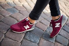 Loving these maroon new balance tennis shoes! So cute and stylish. Perfect for a day running all your errands!