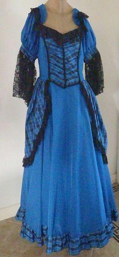 Women Colonial Costume M Southern Belle Halloween Cosplay LARP Civil War PC3 #AlexandersCostumes #CompleteCostume