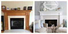 Boogies N BooBoos: Tell Me I Should Paint My Oak Fireplace Mantel
