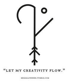 "Sigil Athenaeum — mearalavender: ""Let my creativity flow. Sigil Athenaeum — mearalavender: ""Let my creativity flow. Witch Symbols, Rune Symbols, Magic Symbols, Symbols And Meanings, Viking Symbols, Ancient Symbols, Egyptian Symbols, Spiritual Symbols, Tattoo Symbols"