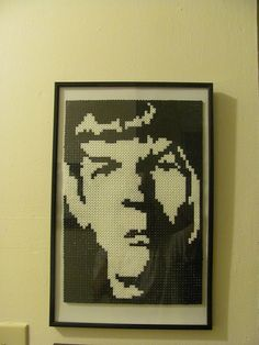 Perler bead Spock from Star Trek
