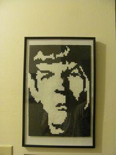Perler bead Spock from Star Trek