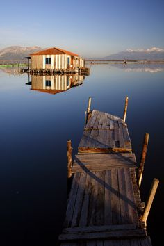 At Messolonghi lagoon in Etoloakarnania (Central Greece) Travel Honeymoon Backpack Backpacking Vacation Greece Tours, Greece Travel, Myconos, Greek House, Acropolis, Macedonia, Places Around The World, Wonders Of The World, Landscape