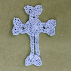 Crochet celtic cross, bookmark, ornament, etcetera