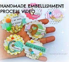 DON'T TRASH THE SCRAPS|HANDMADE EMBELLISHMENTS PROCESS VIDEO
