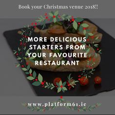 ⚜️🥂🎄Your 2018 Christmas Venue 🎄! ⚜️🥂 Dinner & Lunch⠀ ⠀ 🍽Set Christmas Menus @ Platform 61 will be served from November to December ⠀ All enquiries hi ⠀ ⠀ Cocktail Menu, Signature Cocktail, Christmas Menus, Restaurants In Dublin, Croatian Cuisine, Wine List, Vegan Options, My Face Book, Wow Products