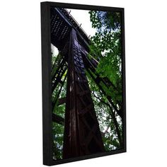 ArtWall Kevin Calkins Trestle Perspective Gallery-Wrapped Floater-Framed Canvas, Size: 24 x 36, Green
