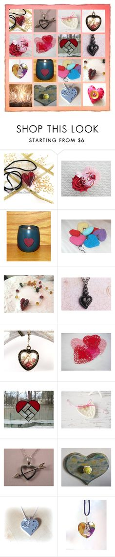 """Hearts, Hearts, Hearts!"" by funnfiber ❤ liked on Polyvore featuring rustic"