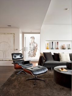 105 best eames lounge chair images home interior design house rh pinterest com Modern Masculine Living Room eames lounge chair in living room