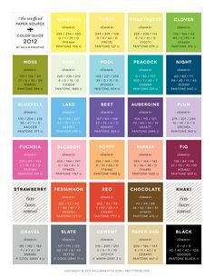 Pantone Paper Source Color Guide 2012