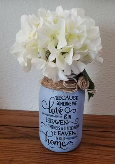 Memorial Gift, Sympathy Gift, Condolence Gift, loss of a loved one gift, Sympathy Mason Jar Gift READY TO SHIP