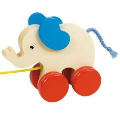 "Jouet à tirer ""éléphant""- Goki Gollnest  Kiesel- Bébé Petit Pom"