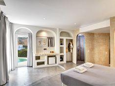 Hotel Architecture, Villa Design, Paros, Ground Floor, Flooring, Balconies, Interior Design, Rooms, Furniture