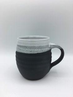 ceramic mugs Excited to share this item from my shop: Ceramic Mug / handmade pottery / black & white Pottery Store, Pottery Mugs, Ceramic Pottery, Stoneware Mugs, Ceramic Cups, Earthenware, Handmade Ceramic, Handmade Pottery, Clay Mugs