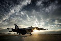 F-16 at sunset by Tony Granata, via 500px